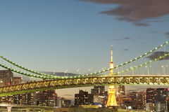 Tokyo city view,Rainbow bridge Royalty Free Stock Photo