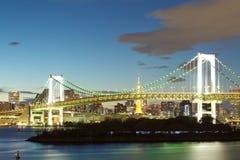 Tokyo city view,Rainbow bridge Stock Images