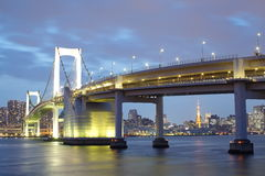 Tokyo city view,Rainbow bridge Royalty Free Stock Image