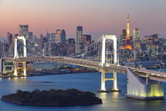Tokyo city view,Rainbow bridge Royalty Free Stock Image