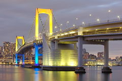 Tokyo city view,Rainbow bridge Royalty Free Stock Photos