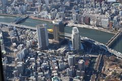 Tokyo city view from Sky Tree royalty free stock images