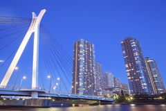 Tokyo city view and Sumida river Royalty Free Stock Photography
