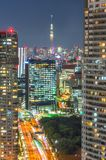 Tokyo city view with Tokyo skytree at night Royalty Free Stock Photos