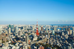 Tokyo city view and Tokyo Tower Stock Images