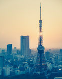 Tokyo city view and Tokyo Tower Royalty Free Stock Photography