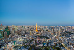 Tokyo city view and Tokyo Tower Stock Photography