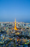 Tokyo city view and Tokyo Tower Stock Image