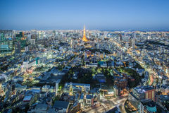 Tokyo city view and Tokyo Tower Royalty Free Stock Photo