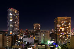 Tokyo cityscape. At  twilight, Japan Stock Images