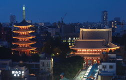 Tokyo cityscape Royalty Free Stock Images