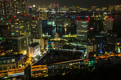 Tokyo cityscape and Bay area Stock Images