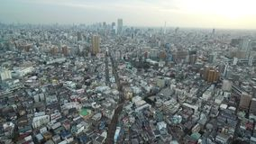 Tokyo Cityscape. Endless City With Speedway, tram way in background. Japan. Tokyo Cityscape. Endless City With Speedway, tram way in background. Japan stock footage