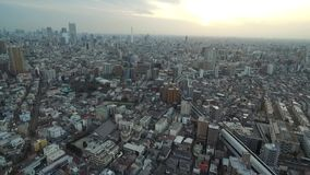 Tokyo Cityscape. Endless City With Speedway, tram way in background. Japan. Tokyo Cityscape. Endless City With Speedway, tram way in background. Japan stock video footage