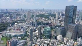 Tokyo cityscape i den molniga dagen Arkivbild