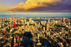Tokyo cityscape, Japan Arkivbild