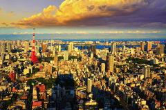 Tokyo cityscape, Japan Stock Photography