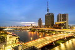 Tokyo Cityscape in Japan Stock Photography