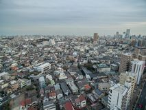 Tokyo Cityscape with Local Architecture and Skyscraper in Background. Tokyo Cityscape with Local Architecture Stock Photography