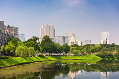 Tokyo Cityscape and Moat Stock Image