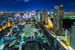 Tokyo cityscape at night Royalty Free Stock Photography