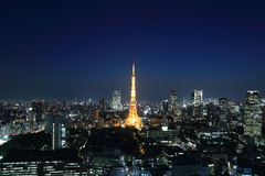 Tokyo cityscape at night, Japan Stock Photo