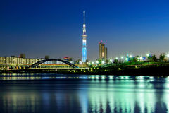 Tokyo cityscape at night Royalty Free Stock Image