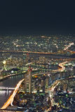 Tokyo cityscape at night Stock Photography