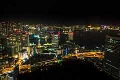 Tokyo cityscape and Odaiba Skyline Royalty Free Stock Photos