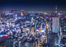 Tokyo Cityscape Over Ginza Royalty Free Stock Photography