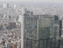 Tokyo cityscape. With reflection on skyscraper royalty free stock images