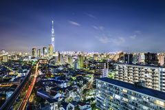 Tokyo Cityscape with Skytree Royalty Free Stock Photo