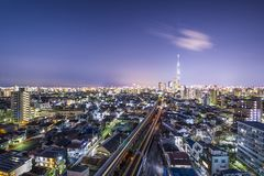 Tokyo Cityscape with Skytree Stock Photos