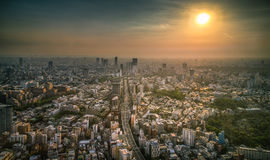Tokyo Cityscape Sunset Royalty Free Stock Images
