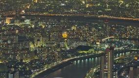 Tokyo Cityscape Time Lapse Pan stock video