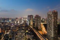 Tokyo cityscape and tokyo sky tree stock photos