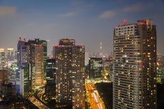 Tokyo cityscape and tokyo sky tree Stock Photo