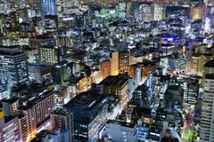 Tokyo Cityscape. Urban aerial view in the Minato Ward of Tokyo, Japan Stock Images