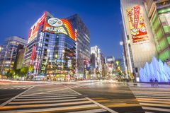 Tokyo, Cityscape van Japan Ginza Stock Afbeeldingen