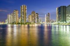 Tokyo, Cityscape van Japan Tsukishima royalty-vrije stock foto's