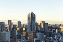 Tokyo cityspace sunset view. With the detail royalty free stock photos