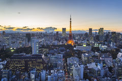 Tokyo cityspace sunset view Stock Images