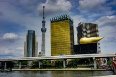 Tokyo Cityview Skyline Megacity with Skytree. Photo taken in Japan Asia, Tokyo, August 2017 Royalty Free Stock Photo