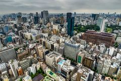 Tokyo Cityview Skyline Megacity with Skytree Tower. During Day. Photo taken in Japan Asia, Tokyo, August 2017 Stock Images