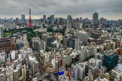 Tokyo Cityview Skyline Megacity with Skytree Tower. During Day. Photo taken in Japan Asia, Tokyo, August 2017 Stock Photography