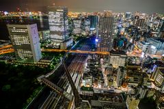 Tokyo Cityview Skyline Megacity with Skytree Tower. Photo taken in Japan Asia, Tokyo, August 2017 Stock Photos