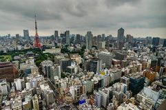 Tokyo Cityview Skyline Megacity with Skytree Tower. During Day. Photo taken in Japan Asia, Tokyo, August 2017 Stock Image
