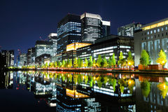 Tokyo commercial area Royalty Free Stock Images