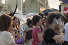 Tokyo crowd Stock Photography