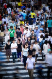 Tokyo crowd in motion at Shibuya Crossing Stock Photography